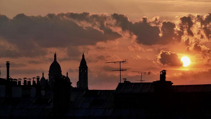Sunset, Canicule, Parodi, 75010 Paris, F,