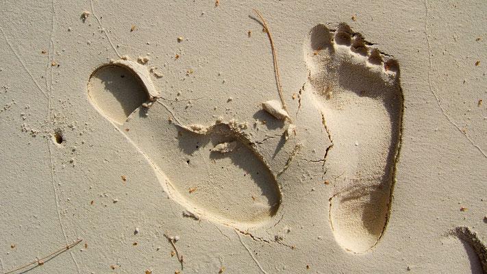 Trace de pas, Ile des Pins, Nouvelle Calédonie   .JPG