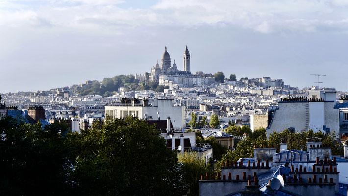 Montmartre, depuis la Butte Bergeyre, 75019 Paris, F,