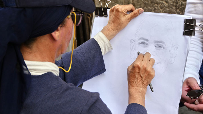 Portraitiste, Rome, Italie, It,