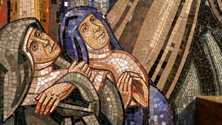 Mosaïques , Eglise Saint Jean Bosco,   1933 /1938, Art Déco,  75020 Paris, F,