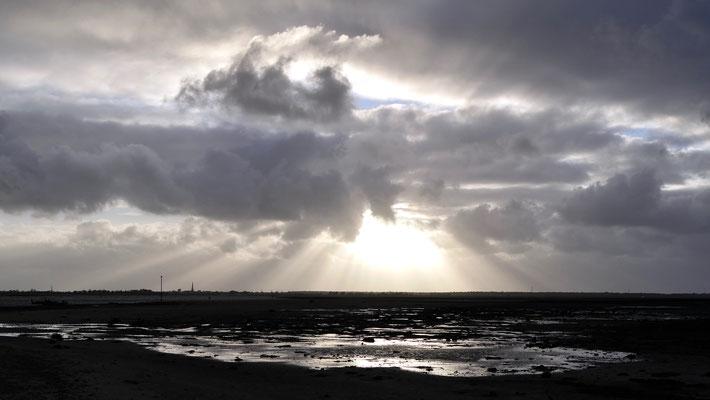 Sunset, Plage de Trousse Chemise , Ile de Ré, F,