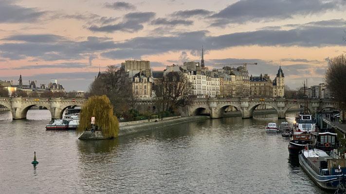 Ile de la Cité, depuis la Passerelle des Arts, 75006 Paris, F,
