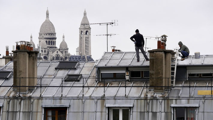 Couvreurs, Sacré Coeur, Parodi, 75010 Paris, F