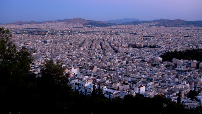 Sunset on Athens, from Licabeth, Athens, Gr,   P1020410.JPG