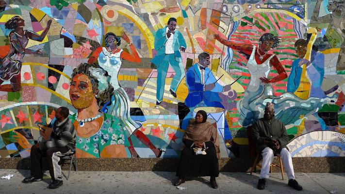 Mosaic,  Mur, South Harlem,  New york City, Usa,  P1160924.JPG