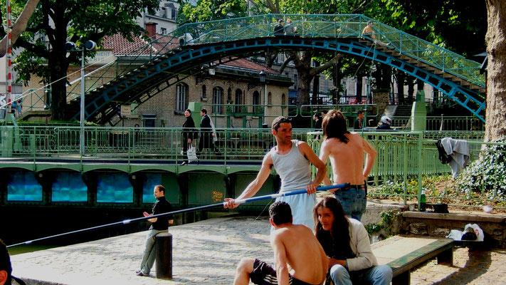 Pécheurs, Ecluse, Quai de Jemmappes, Paris, F,  .JPG