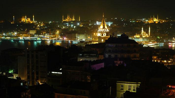 Night view, Istambul, Turkey,