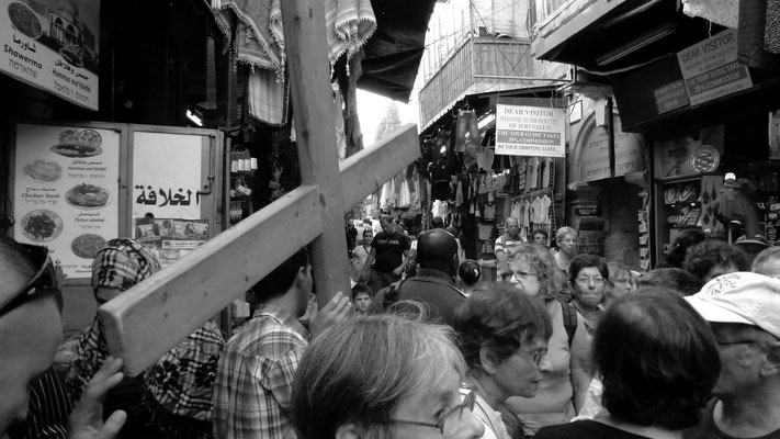 Man with a cross, Via Dolorosa, Jerusalem, Palestine, israel, Il,  P1010001.JPG