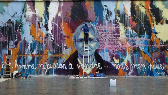 Grapheurs, Graph, Le Mur, Quai de Valmy, Paris, F, P1000012