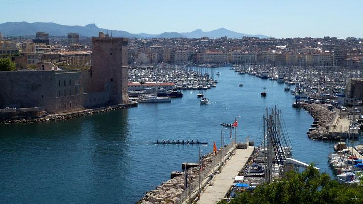 Le port de Marseille,  depuis le palais du Pharo, Marseille, F, P1010186