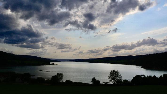 Sunset  Lac de Saint-Point, 25160 Montperreux, Doubs, F,