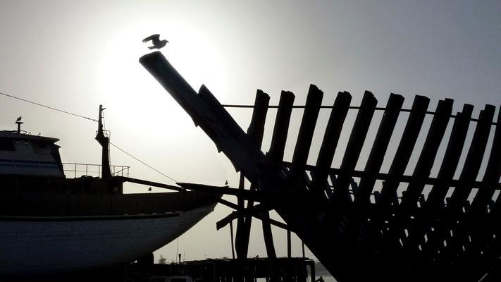 Silhouettes Bateaux, Port, Essaouera, Maroc, Ma,  P1020446.JPG