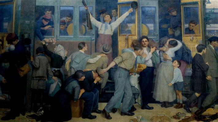 Détail Peinture, Gare de l' Est, Paris, F,  P1010921