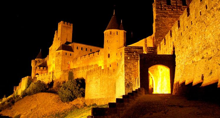 Nuit, Carcassonne, Aude,  France, F,  .JPG