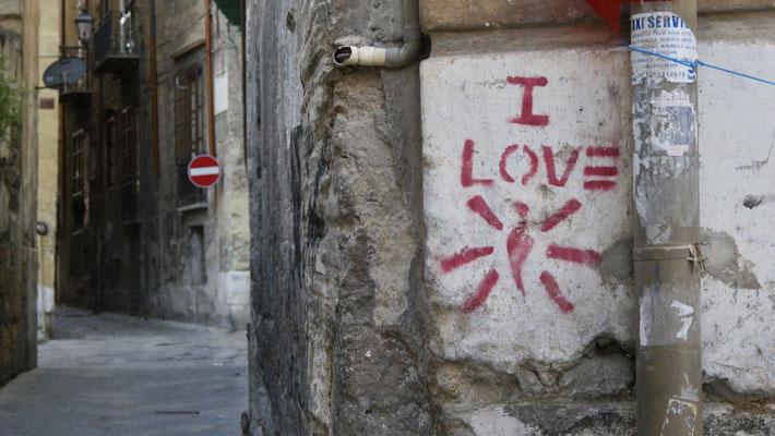 I love, Graph, Palerme, Sicile, Italie, It,