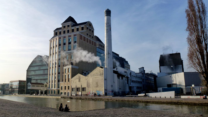 Moulins de Pantin, Grande Blanchisserie de Pantin, Canal de l' Ourq, Pantin, Paris, F,  P1000117