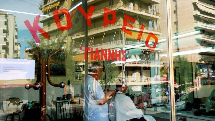 Coiffeur, Nea Smirni, Athènes, Gr,  P1000572.JPG