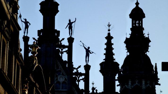 Détail, Grand Place, Bruxelles, Belgique, B,  P1030556