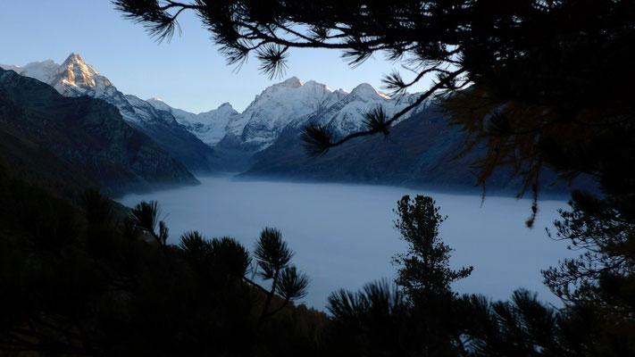 Mer de nuages, Alpage de Lirec, Zinal, Anniviers, Valais, Suisse, Ch,  P1140402.JPG