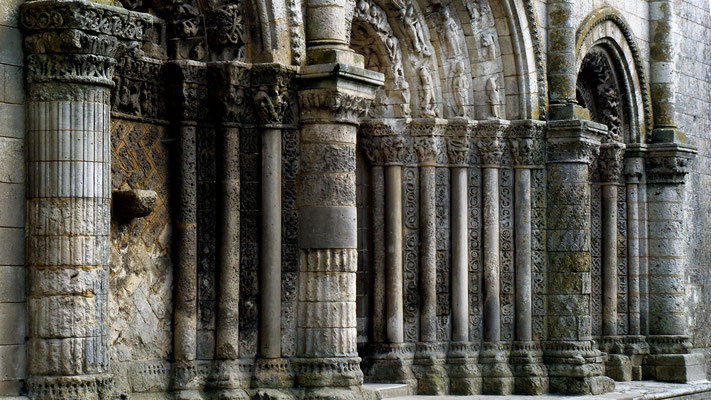 Portail, Eglise, Pont-l'Abbé-d'Arnoult, Charente, F,  P1040353