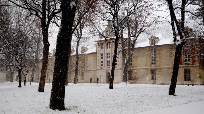 Neige, Parc Hôpital Saint Louis, Paris, F,  P1040390.JPG