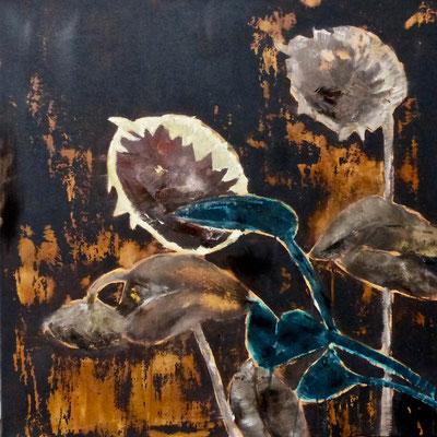 OSTRA II - Acryl/Öl auf Leinwand - 80 x 80 cm - 2016