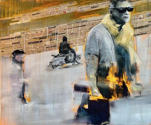 LA GAZZETTA DELLO SPORT - Acryl/Öl auf Leinwand - 100 x 120 cm - 2019