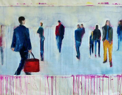 ICEBOUND - Acryl/Öl auf Leinwand - 140 x 180 cm - 2019