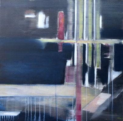 SPIAGGIA 19 - Acryl/Öl auf Leinwand - 80 x 80 cm - 2017