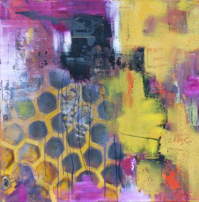 VERGESSEN - Acryl/Öl auf Leinwand - 80 x 80 cm - 2017