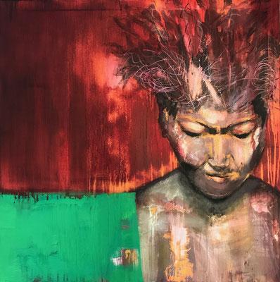 ZALA - Acryl/Öl auf Leinwand - 80 x 80 cm - 2017