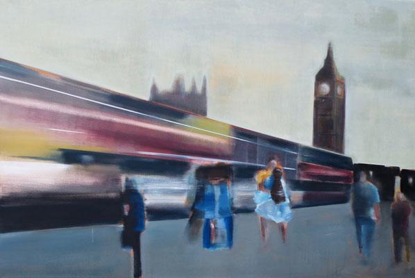 9:15 - Acryl/Öl auf Leinwand - 80 x 120 cm - 2017