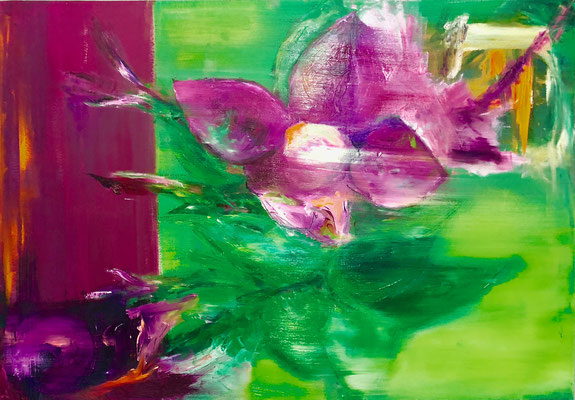 LE VAGLIE - Acryl/Öl auf Leinwand - 70 x 100 cm - 2018