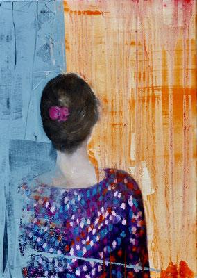 14 UND 1 ENDLOS - Acryl/Öl auf Leinwand - 50 x 70 cm - 2017