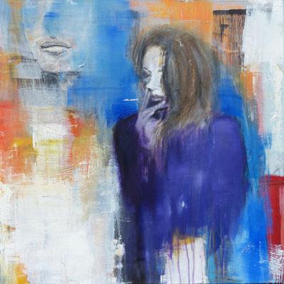 21 - Acryl/Öl auf Leinwand - 80 x 80 cm - 2017