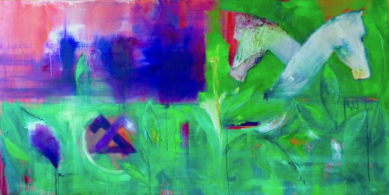 THE CIGAR COMPANY - Acryl/Öl auf Leinwand - 100 x 200 cm - 2018