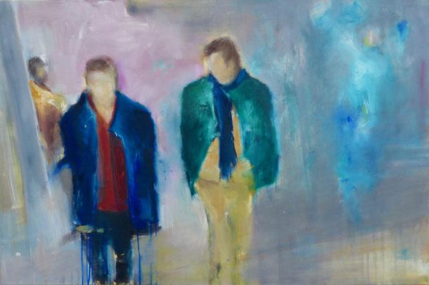 SILENCIO - Acryl/Öl auf Leinwand - 80 x 120 cm - 2018