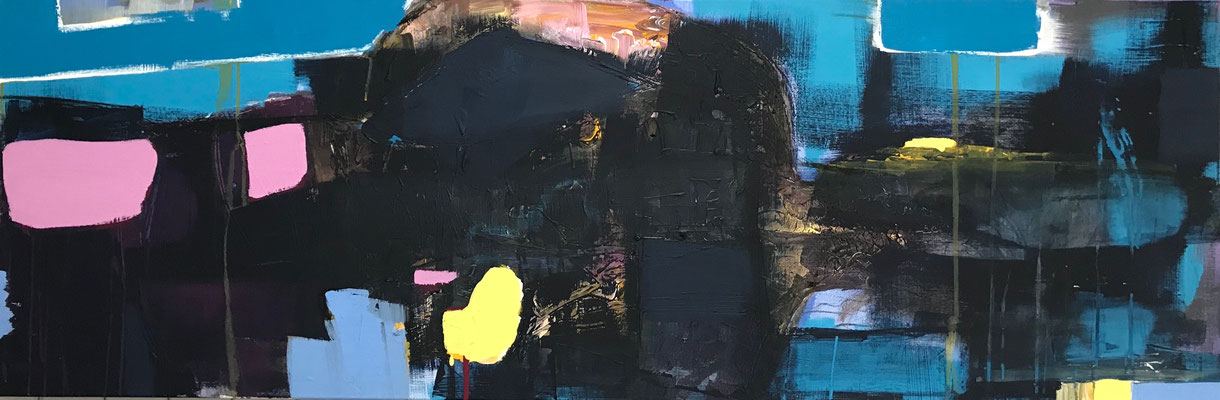 VERSTECKT - Acryl auf Leinwand - 50 x 150 cm - 2017