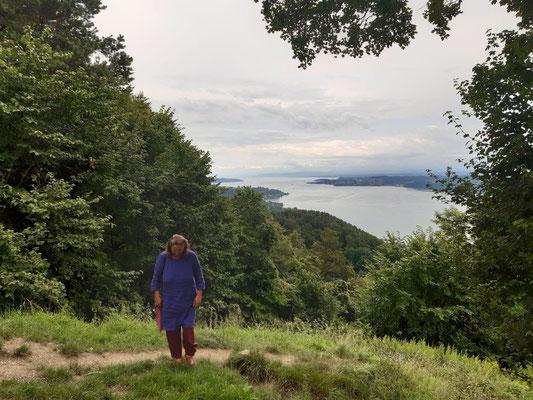 Blick vom Haldenhof auf den Bodensee bzw. Überlingersee (westlicher Teil vom Bodensee)