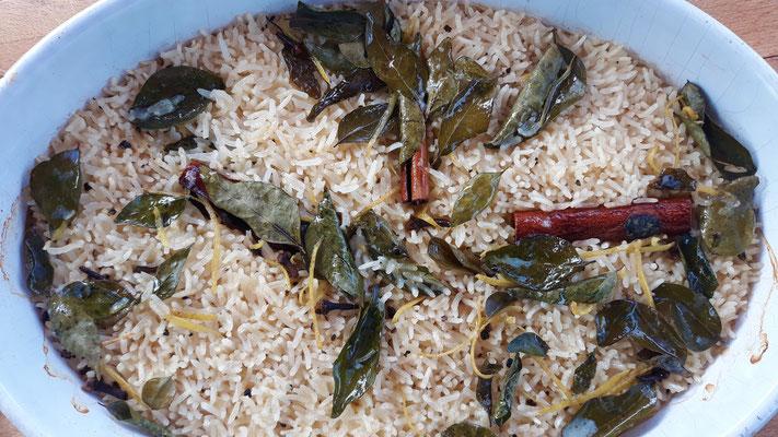 Gewürz-Reis aus dem Ofen