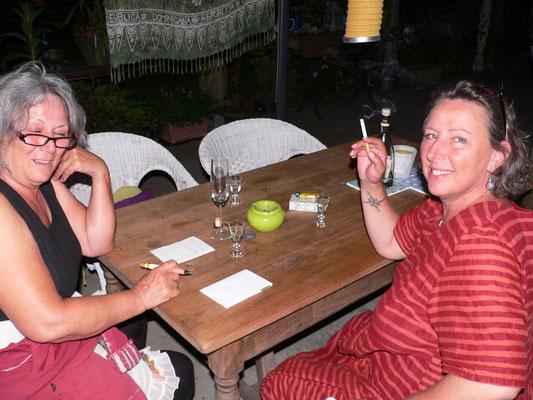 08.06. mit Angela und Ursula - die das Foto geschossen hat