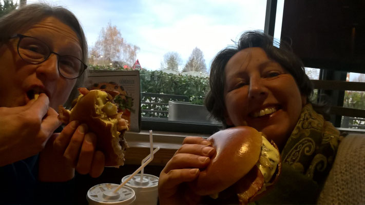 Ganz selten: Junkfood, ein Hamburger