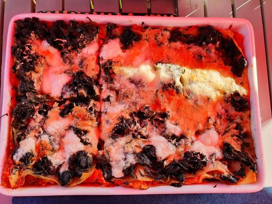 Lasagne mit Brennesseln