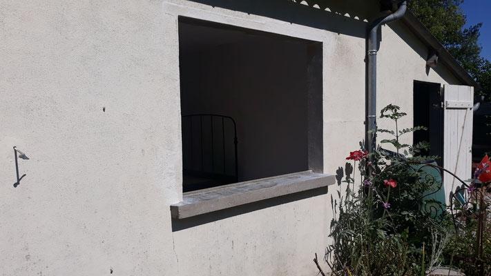 Das Studio wird ein grosses Fenster bekommen ...