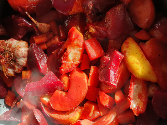 Gemüse mit Winteräpfel