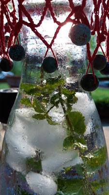 Eiswasser mit Minze