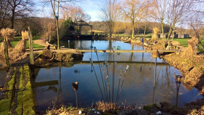31.12. Der Teich füllt sich so langsam auf