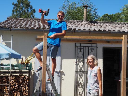 Pergolabau mit Peter & Sonja