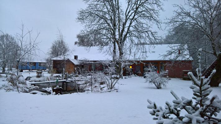 18.12. Es gab richtig Schnee, der aber bald wieder weg war